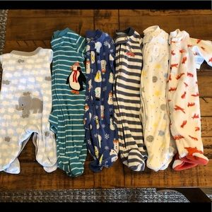 Bundle of 6 NB footed sleepers